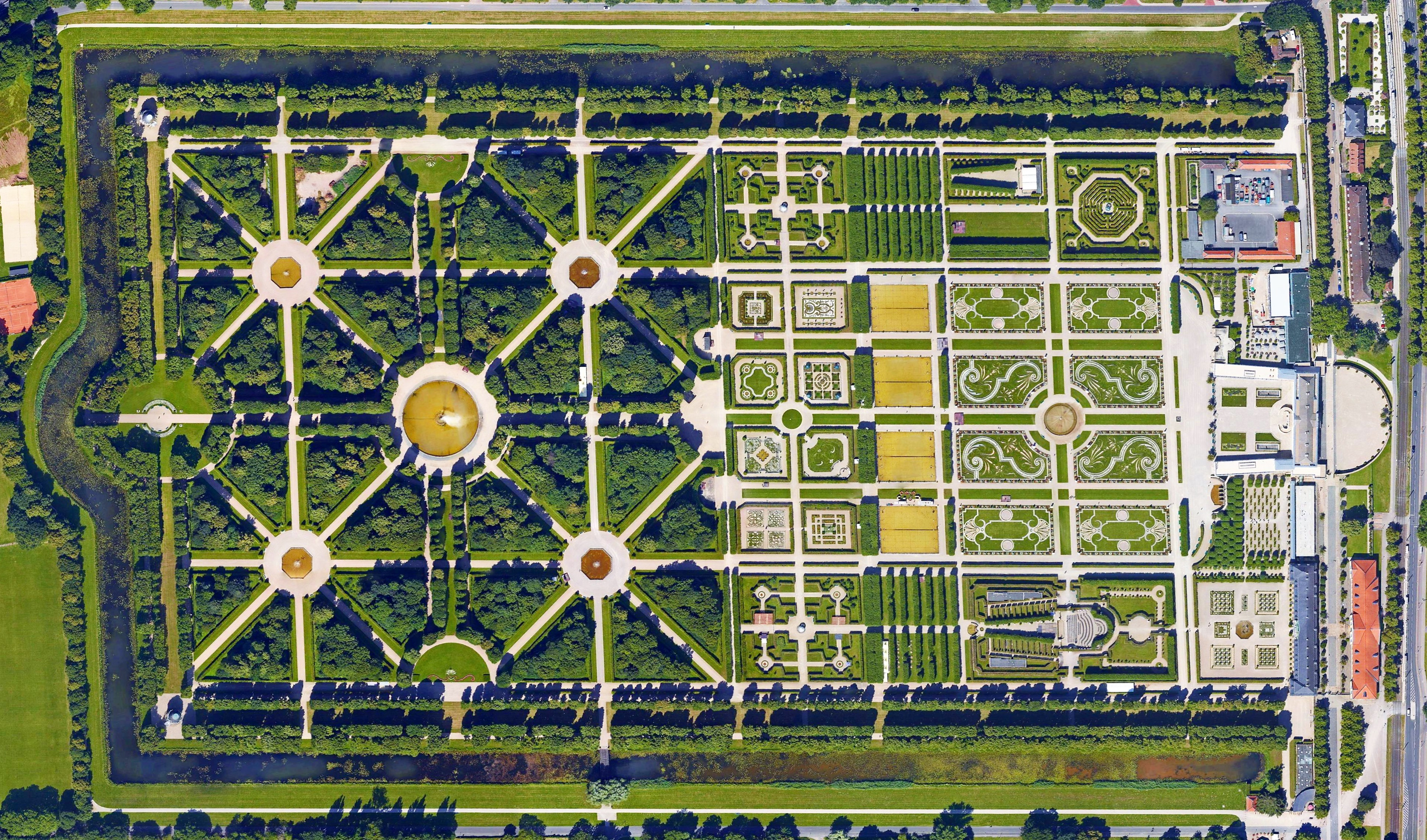 Herrenhausen Gardens Hannover Pictures From Above